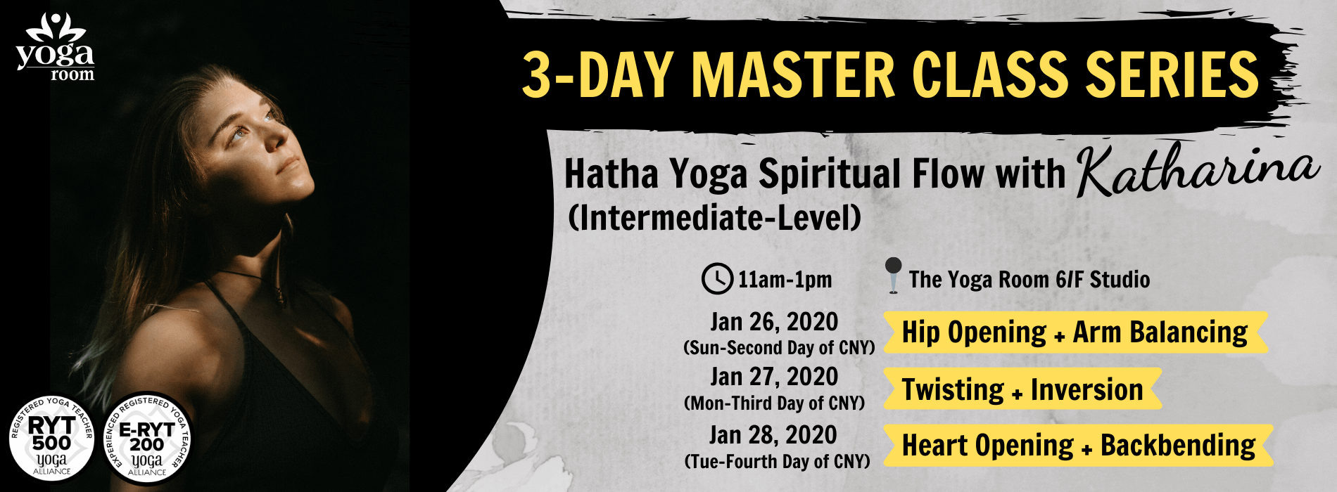 3 day master class series